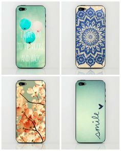 Awesome iPhone skins from Society6. We could spend all day on that site!