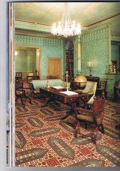 The Kings Apartments, image from the book The Royal Pavilion Brighton by Brighton and Hove City Council.  More restrained style designed by Robert Jones.