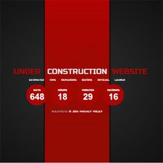 under construction free responsive html5 css3 mobileweb template