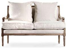 Louis Settee - transitional - Loveseats - Bliss Home & Design