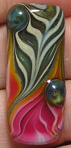 Joyous Creations Left Unfound Dichroic Lampwork Focal Bead | eBay