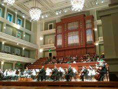 The Nashville Symphony playing inside the Schermerhorn Symphony Center.