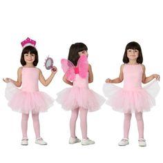 Acabamos de incorporar a nuestro catálogo este original disfraz de Bailarina con falda de tul en color Rosa. Un disfraz multiuso, servirá para disfrazar a las niñas de bailarinas de ballet, o como traje de danza clásica. Si se completa con alguno de nuestros accesorios y complementos lo convertiremos en una princesa gracias alguna de nuestras coronas o en un hada gracias a unas alas de colores.