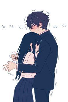 Anime Couples Hugging, Anime Couples Cuddling, Anime Couples Drawings, Anime Couples Manga, Manga Anime, Couple Hugging, Anime Couples Sleeping, Haikyuu Manga, Couple Drawings