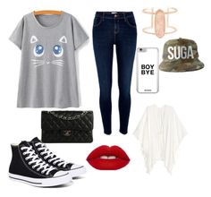 """Cute"" by ineedmagcon on Polyvore featuring River Island, Converse, Kendra Scott and Chanel"