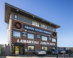 Lamartine showroom Kitchen Worktop, Granite Kitchen, Granite Worktops, Fireplaces, Showroom, Fireplace Set, Fire Places, Fire Pits, Fashion Showroom