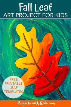 Celebrate all of the gorgeous colors of fall with this autumn leaf painting for kids! Kids will learn about blending and mixing colors with acrylic paints. Free leaf templates provided.