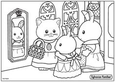 59 Best Sylvanian Family Colouring Pictures Images Family Coloring