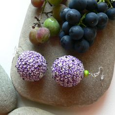 Kolczyki - Lilak w SolmilarArt na DaWanda.com Crochet, Etsy, Jewelry, Jewlery, Jewerly, Schmuck, Ganchillo, Jewels, Jewelery