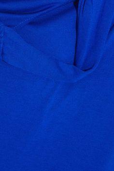 Heidi Klein - Lisbon Twist-back Jersey Dress - Bright blue - x large