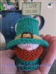 Ravelry  Paddy - the Cork Leprechaun pattern by MagdaLaine Christmas  Knitting 43f24a359bec