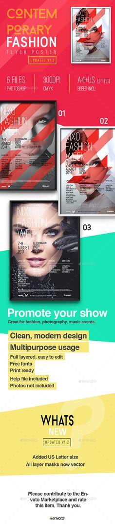 Contemporary Fashion Flyer Poster A Vol   Contemporary Fashion