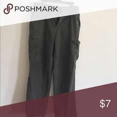 Olive drab green cargo pants used 34x30 Olive drab green cargo pants used 34x30. Originally 36x30. Was tailored Pants Cargo