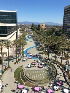 Convention center plaza, Anaheim, CA