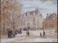 Jean-François Raffaëlli (French, 1850–1924). The Fletcher Mansion, New York City, 1899. The Metropolitan Museum of Art, New York. Mr. and Mrs. Isaac D. Fletcher Collection, Bequest of Isaac D. Fletcher, 1917 (17.120.228) #newyork #nyc