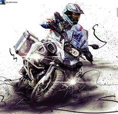 Bmw Adventure Bike, Gs 1200 Adventure, Motorcycle Types, Motorcycle Art, Bmw Motorbikes, Adventure Tattoo, Bmw Sport, Concept Motorcycles, Bike Life