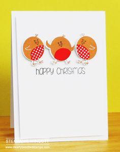 ) Stamps - Rockin' Robin , Rockin' Robin II , Cheerful Calligraphy & Christmas Type / D. Homemade Christmas Cards, Christmas Cards To Make, Xmas Cards, All Things Christmas, Rockin Robin, Fabric Cards, Fall Cards, Card Tags, Xmas Decorations