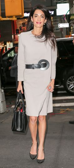 Just add a unique belt to a plain dress and you have yourself a pulled-together look. Make great belts with Threadhead TV. ~Amal Clooney's Secret Weapon to Upping Her Office Style