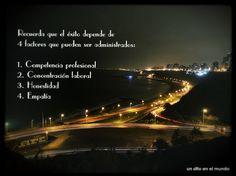 El éxito depende de 4 factores que pueden ser administrados. #unsitioenelmundoconsultores