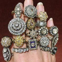 1,026 отметок «Нравится», 49 комментариев — Lang Antique & Estate Jewelry (@langantiques) в Instagram: «Hey #diamondtribe ! Love a #georgian or #victorian #rosecutdiamond ? We built the…»