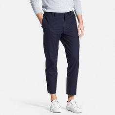 MEN RELAXED ANKLE PANTS (WOOL-LIKE)