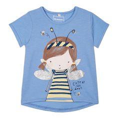 Girl's blue bee girl t-shirt - Kids - Debenhams.com