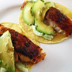 Blackened Fish Baja Tacos