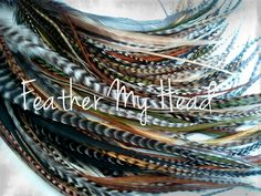 Feather Hair Extensions - 16 Piece - Brown Tan - Wild Thing - Color Me Crazzy