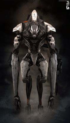 Nuthin' But Mech: Wealthy class protector. Cyberpunk, Imagine Nation, Ghost In The Machine, Sci Fi Armor, Robot Concept Art, Robot Design, Sci Fi Characters, Matte Painting, Creature Concept