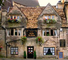 The Bridge Tea Rooms, Bradford-on-Avon, Wiltshire, England. ANY tea room in England. The Places Youll Go, Places To Go, Bradford On Avon, Photos Voyages, England And Scotland, Somerset England, English Countryside, British Isles, British Pub