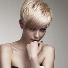Love this hair. Short, blonde and fabulous