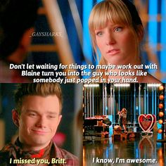 "#Glee 6x03 ""Jagged Little Tapestry"" - Brittany and Kurt"