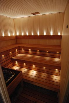 Sauna adjacent to master shower