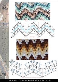 44 New Ideas For Knitting Patterns Free Blanket Chevron Crochet Ripple Zig Zag Crochet, Crochet Ripple, Crochet Motifs, Crochet Diagram, Crochet Stitches Patterns, Crochet Chart, Baby Blanket Crochet, Knitting Patterns Free, Diy Crochet