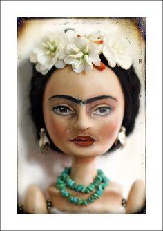 Frida Art Doll by du_buh_du_designs, via Flickr