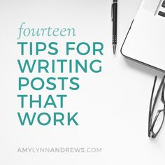 14 tips for writing blog posts that stand out via @AmyLynnAndrews