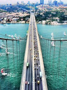 traveled: Istanbul, Turkey   The Bosphorous Bridge - Eur Asia