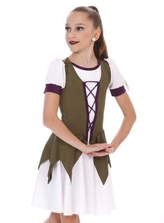 Cute German theme dress with front lacing and points on the top skirt. Check out more skate garments at thelineup.com