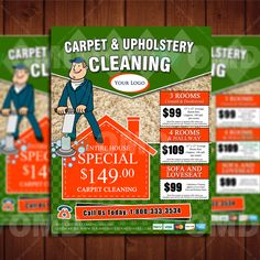 Cool Carpet Cleaning 8.5 x 11 Flyer Design - Professional Business Marketing, - Done in 4hrs - Upholstery Marketing Template