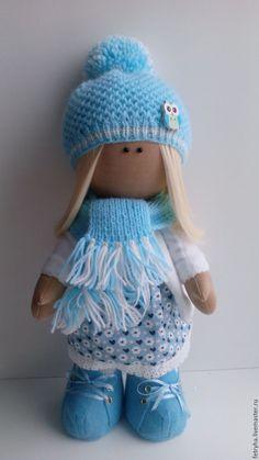 Купить Куколка - бирюзовый, голубой, куколка, кукла ручной работы, куколка ручной работы