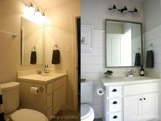 Crazy Wonderful: shiplap boy's bathroom reveal under $75!