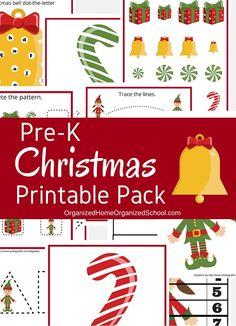 Printable Christmas preschool pack