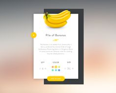 UI fun [Banana week] designed by George Vasyagin for Awsmd. Connect with them on Dribbble; the global community for designers and creative professionals. Mobile Ui Design, App Ui Design, User Interface Design, Interface App, Game Design, Daily Ui, Newsletter Design, Ui Design Inspiration, Applications