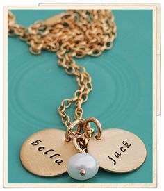 gold dainty names necklace I want this!
