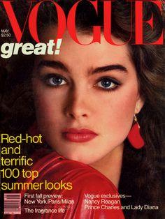 Brooke Shields by Richard Avedon Vogue US May 1981.
