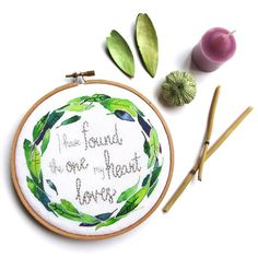 Happy Saturday! I'm so glad it's the weekend! Today I'm thankful for my husband and his patience with me when it's been a long and stressful week. His friendship means the world to me. Who are you celebrating today? This finished embroidery hoop is in honor of that special someone and it makes a great wedding or anniversary gift. It's available this weekend at @thehandmadepopup and will be coming soon to my shop as a kit just in time for the holidays!