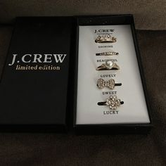 J.crew 5 pcs rings set new New with box never worn and last 2 rings are adjustable J. Crew Jewelry Rings