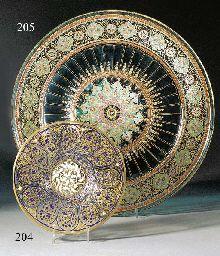 A Lobmeyr enamelled circular stand