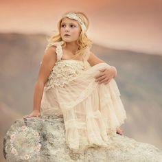 Flower Girl Dress Rustic flower girl dress by SweetValentina