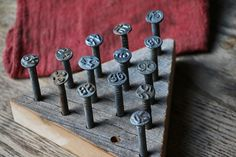 The Brain Teaser : Peg Triangle Solitaire Game with Repurposed Railroad Nails by JordanCreekWorkshop